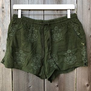 Anthropologie Mermaid Linen Shorts